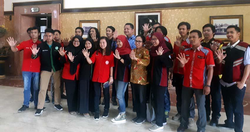 Relawan Anti Narkoba dan Wawali Whisnu Sakti