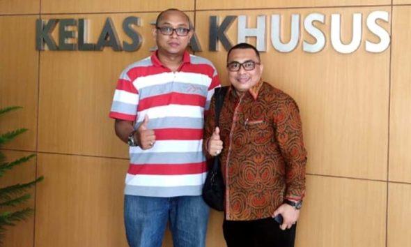 M. Sa'i Rangkuti. SH.MH dan Beni Syahputra, SH, pengacara yang tergabung di Law Office M. Sa'i Rangkuti & Assosiates, setelah mengajukan blokir sertifikat atas nama Budi Hartono Sidarta (fan)