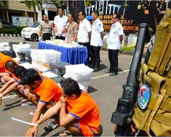 Polrestabes Surabaya Bongkar Jaringan Peredaran Pil Koplo