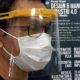 Djoko Kuswanto saat menjajal Face Shield Mask di RS Universitas Airlangga