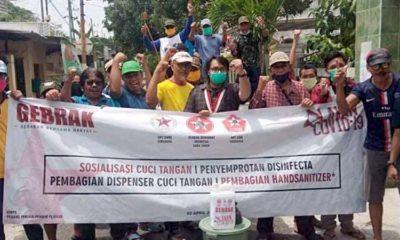Langkah Nyata DPC GMNI Surabaya Turun Langsung Lawan Penyebaran Covid-19
