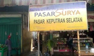 Jelang PSBB, Pemkot Surabaya Terapkan Protokol Kesehatan di Pasar Keputran Utara